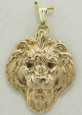 14K solid yellow gold Lion Head Pendant 5.23 grams gold