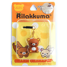 Rilakkuma earphone cap plug iPhone 5S 5 4S 4 iPod touch 6 6S Plus case Samsung