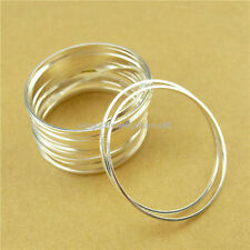13769 15PCS Copper Silver Round Ring Circle Pendant Connector Jewelry Making