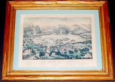 THE LAKES OF KILLARNEY BY CURRIER AND IVES~ORIGINAL 1868 ANTIQUE PRINT~IRELAND