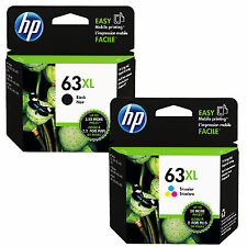 Brand New EXP 2016 / 2017 Genuine Combo HP 63XL Black & Color ink cartridges