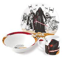 Star Wars 3 piece set de collation en céramique tasse, bol et assiette cadeau set force éveille