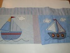 Tiddliwinks SAILBOAT Curtain VALANCE Nautical Sail Boats Nursery Kids Room