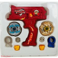BEYBLADE METAL FUSION Red Hybrid Wheel Fight Attack Double Launcher+2 Beyblade