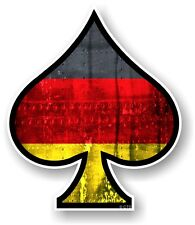 ACE OF SPADES With LGBT Germany German Flag Vinyl Car Helmet Sticker Decal Vdub
