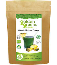 Golden Greens® Organic Moringa Powder 250g - A Superfood with Passion™