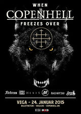 COPENHELL 2015 DENMARK CONCERT TOUR POSTER-When Hell Freezes Over,Fortress,Hexis