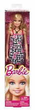 Barbie Basic Doll with Pink & Black Barbie Dress, Necklace & Shoes - BCN29 - New