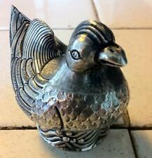 Antique Austrian Silver Figural Bird Pounce and or Pepper Pot Shaker Late 1800s