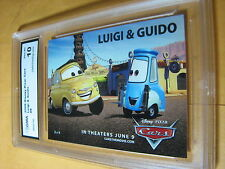 LUIGI & GUIDO 2006 DISNEY PIXAR CARS # 8 GRADED 10 L@@@K