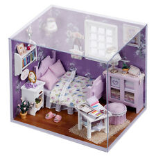 New Dollhouse Miniature DIY Kit with Cover Wood Toy Dolls House Gift Sweet Sun