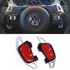 VW Golf MK7 R Scirocco Polo GTI Silver Metal DSG Paddle Shifter Shift Extensions