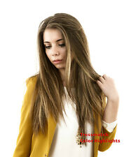 """16""""-18""""inch Remy Human Hair Clip in Extensions Thick to Ends Black Brown Blonde"""