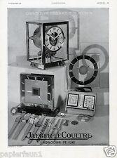 Uhren Jaeger LeCoultre XL franz Reklame v. 1937 Uhr Präzision Werbung Le Coultre