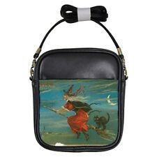 Halloween Witch Black Cat Girls Sling Bag