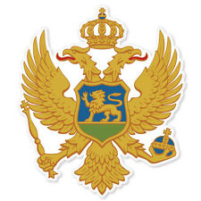 "MONTENEGRO Coat of Arms bumper sticker decal 4"" x 4"""