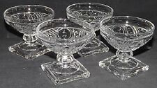 Heisey USA Ipswich 4 Crystal Clear Sherbets