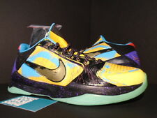 Nike Zoom KOBE V 5 PRELUDE UNIVERSITY GOLD GAMMA BLUE BLACK RED 639691-700 9.5