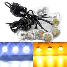 1Set 10 in 1 Cold White/Amber Switchback Dual Color 5730 4SMD LED DRL Fog Light