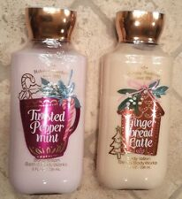 BATH AND BODY WORKS ~ BODY LOTION ~ GINGER BREAD LATTE + TWISTED PEPPERMINT