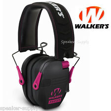 Walkers Game Ear Razor Slim Shooting Folding Muff Muffs Electronic Pink RSEM-PNK