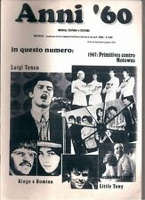 ANNI '60 N°8/2000 LUIGI TENCO PRIMITIVES VS MOTOWNS RINGO E ROMINA LITTLE TONY