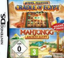 NINTENDO DS 3DS JEWELMASTER CRADLE OF EGYPT + MAHJONGG EGYPT Gebraucht Top Zusta
