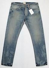 $345 Simon Miller Dayton Blue M002 Slim Distressed Selvedge Denim Jeans 30X34