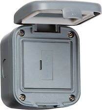 Knightsbridge IP66 13A Fused Spur Unit Wall Mountable Outdoor Power Connection