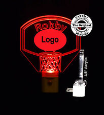 Personalized Basketball Night Light, Custom LED Light with favorite Team Logo