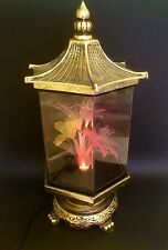 "Vtg Commodity 18"" Fiber Optic Flower Revolving Light Motion Lamp Pagoda"