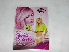 2014 Benchwarmer CAMILLE ANDERSON Soccer #46 Pink Foil Auto/25 WEDDING CRASHERS