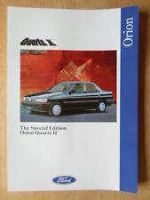 FORD ORION QUARTZ II 1992 UK Mkt sales leaflet brochure - 2