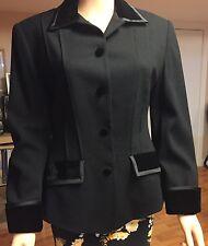 Woman Elegant DKNY DONNA KAREN black Jacket Sz 6