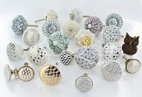 Large Selection Of Ceramic Door Knobs Handle Cabinet Cupboard Drawer Pull NEW!