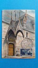 FRANCE CARTE MAXIMUM YVERT 583 HOTEL DIEU ROLIN 4F BEAUNE 1943 L 293