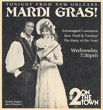 1984 CBS TV AD~STEVE EDWARDS~MELODY ROGERS~2 ON THE TOWN~MARDI GRAS~Los Angeles