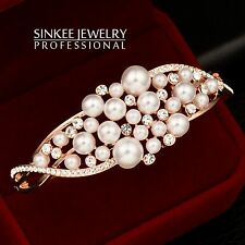 High Quality Pearl Beads Bracelets Bangle for Women 18K Rose Gold Plated SL230