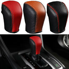 Leather Hand Sewing Gear Shift Knob Cover Shifter For Honda Civic 2016 Automatic