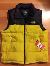 The North Face Nuptse Down Vest - Black / Yellow - Size Men;s Large - NEW