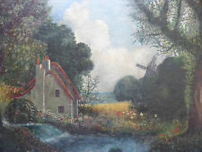 OIL ON CANVAS THE OLD WATER MILL LISTED ARTIST WINSTON MCQUOID FREE SHIPPING