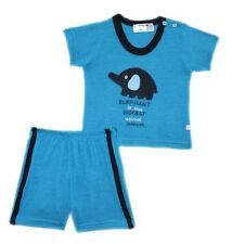 Elephant is the Biggest Animal Aqua Short Set - Infant Wear for Boy Size newborn