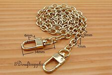 Purse chain metal chain handles strap chain light gold 60 cm CF34