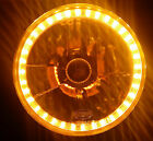 "Amber 7"" Round LED Halo Ring H4 Headlights Angel Eye Torana LC LJ LX GTR XU1 SS"