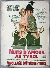 Affiche Belge érotique NUITS D'AMOUR AU TYROL Peter Steiner JULIA TOMAS