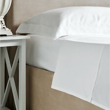 Bamboo Bed Linen - Luxury 100% Bamboo White Fitted Sheet - King