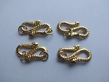 Lot of 4 Snake Sterling Silver 925 Twist Style / Gold Washed Clasp - 12 g total!