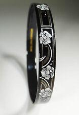 MICHAELA FREY WILLE Armreif vintage bangle bracelet enamel Email Blumen MF430