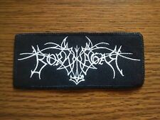 BORKNAGAR,SEW ON WHITE EMBROIDERED PATCH