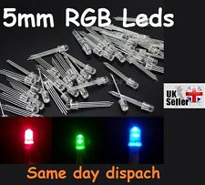 5 x Pcs 5mm 4pin RGB Tri-Color Common Cathode LED light Red Green Blue UK freep